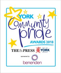 WorkwithSchools sponsors Teacher of the Year & School of the Year at York Community Pride Awards 2018